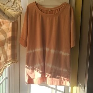 Easel Soft Peach ty-dy Tunic